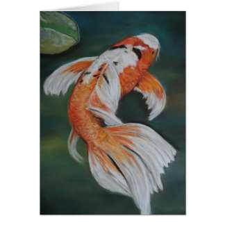 Butterfly Koi Fish Art Notecard Cards