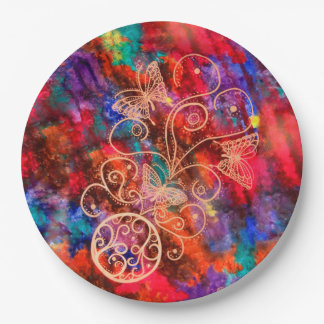Butterfly Lace Paper Plates