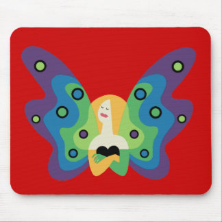Butterfly Lady Mouse Pad