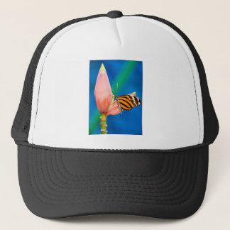 Butterfly Landing on Purple Flower Trucker Hat