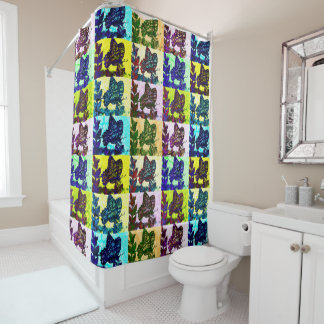 Butterfly Layered Patterns Shower Curtain