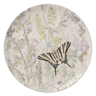 Butterfly Licorice Clover Wildflower Flowers Plate
