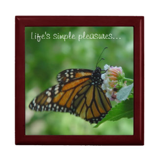 Butterfly Life's Simple Pleasures Large Box Large Square Gift Box