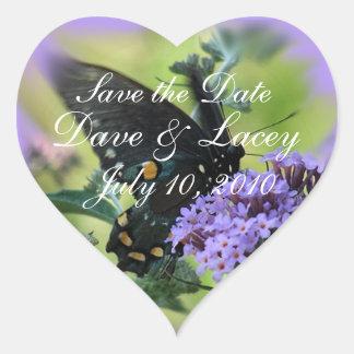 Butterfly & Lilac Heart Sticker-customize