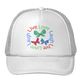 Butterfly - Live Love Laugh Cap