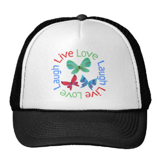 Butterfly - Live Love Laugh Mesh Hat