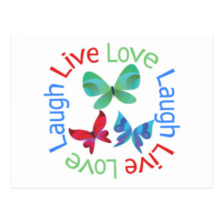 Butterfly - Live Love Laugh Postcard