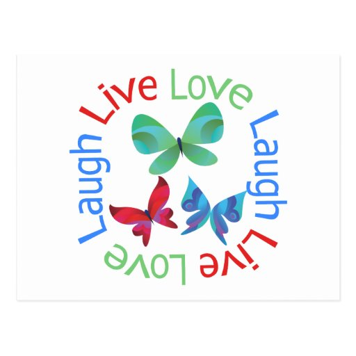 Butterfly - Live Love Laugh Postcards