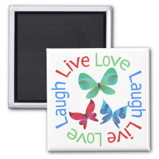 Butterfly - Live Love Laugh Refrigerator Magnets