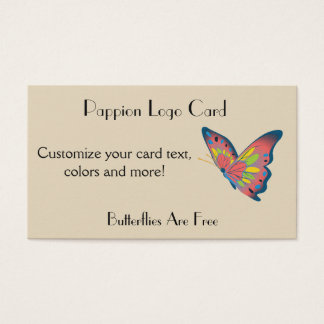 Butterfly Logo Business Card Pappion