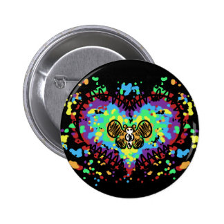 Butterfly Love 6 Cm Round Badge