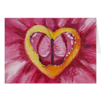 Butterfly Love aceo Blank Card