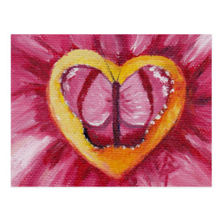 Butterfly Love aceo Puzzle Postcard