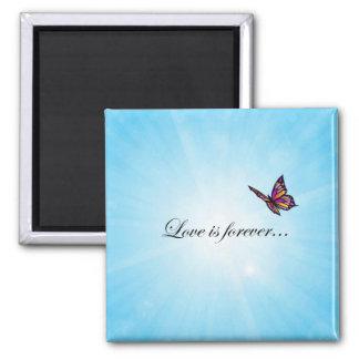 Butterfly LOVE Is Forever Fridge Magnets