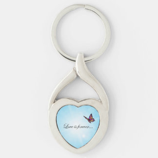Butterfly LOVE Is Forever Key Chain