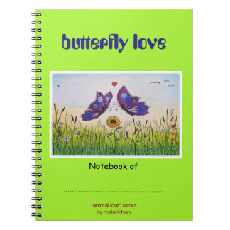 Butterfly Love Picture Notebook - Animal Love