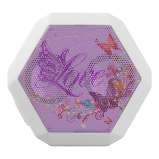 Butterfly love white bluetooth speaker