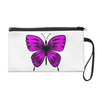 Butterfly_magenta Wristlet