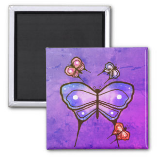 Butterfly magnet. square magnet