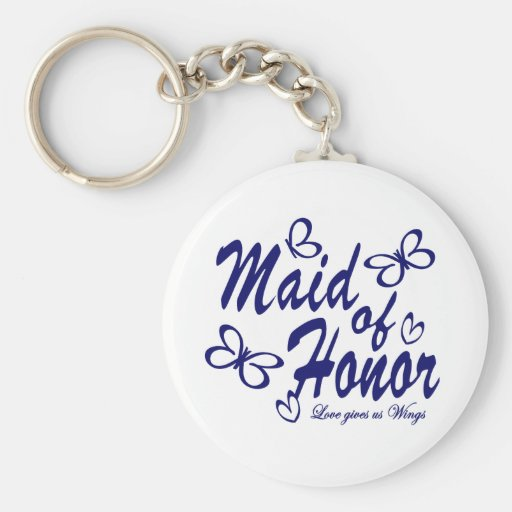 Butterfly/ Maid of Honor Key Chains