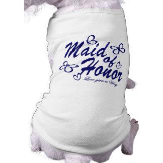 Butterfly/ Maid of Honor Sleeveless Dog Shirt