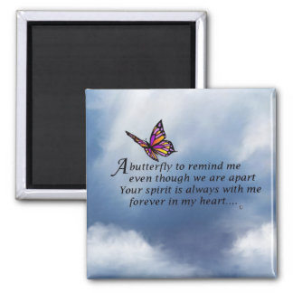 Butterfly Memorial Poem Square Magnet