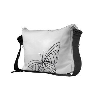 Butterfly Messenger Purse Courier Bag