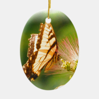 butterfly mimosa tree ceramic ornament