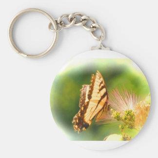 butterfly mimosa tree key ring