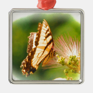 butterfly mimosa tree metal ornament