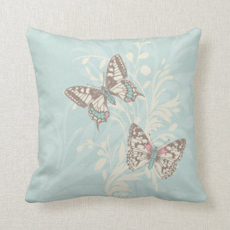 Butterfly mint pastel cushion pillow