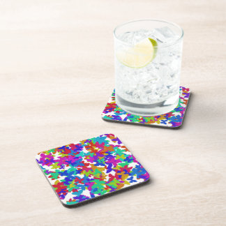 butterfly mirage cork coasters set