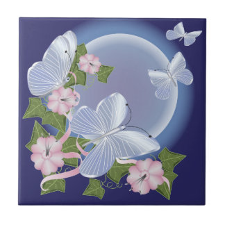 Butterfly Moon Beams Ceramic Tile