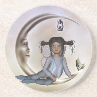 Butterfly Moon Dream Dogear Fairy Coaster