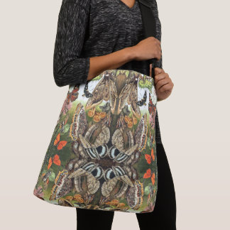Butterfly Moth Caterpillar Bugs Shoulder Tote Bag