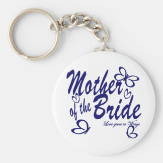 Butterfly/Mother of the Bride Basic Round Button Key Ring