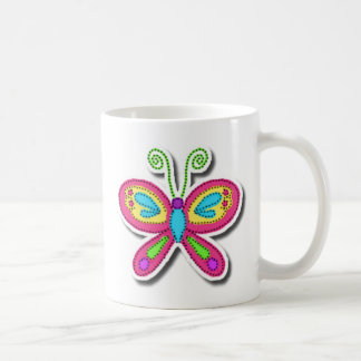 Butterfly Basic White Mug