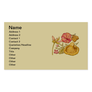 Butterfly, Mushroom and Flower Watercolor Pack Of Standard Business Cards