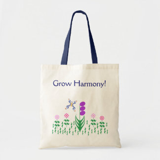 Butterfly Music Garden Tote Bag