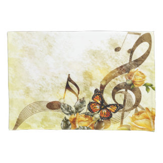 Butterfly Music Notes (1 side) Pillowcase