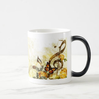 Butterfly Music Notes Morph Mug