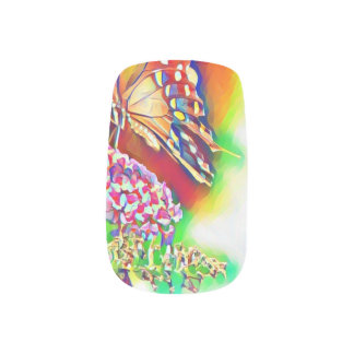Butterfly nail design minx nail art