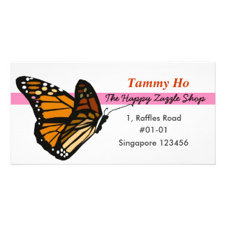 Butterfly Namecard Photo Greeting Card