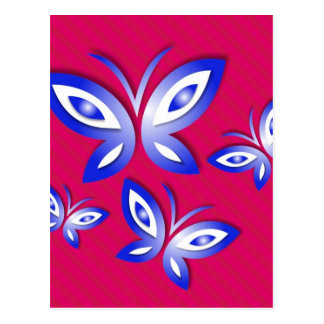 Butterfly Nature Fly Design Pink Style Fashion Fam Postcard