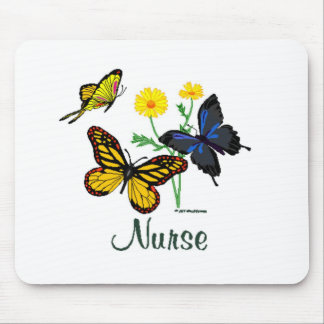 Butterfly Nurse Mouse Pad