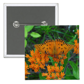 Butterfly of change, encouragement and beauty 15 cm square badge