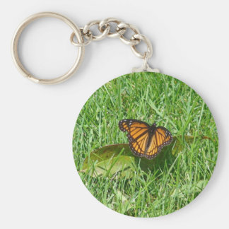 Butterfly of summer basic round button key ring