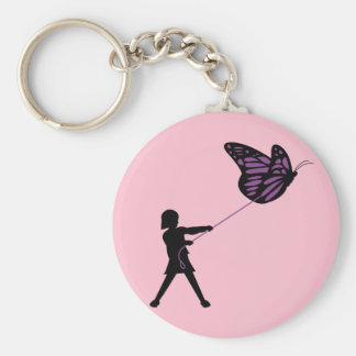 Butterfly on a Leash Key Chain