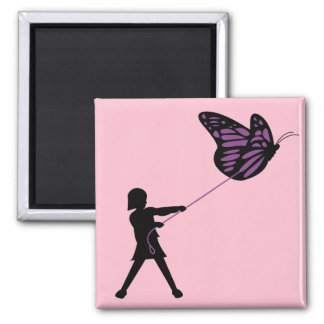 Butterfly on a Leash Magnet
