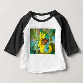 Butterfly on a Sunflower Baby T-Shirt